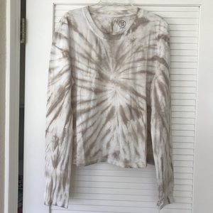 SAGE COLLECTIVE Creamy Tie-dye Crop T-Shirt NWT!